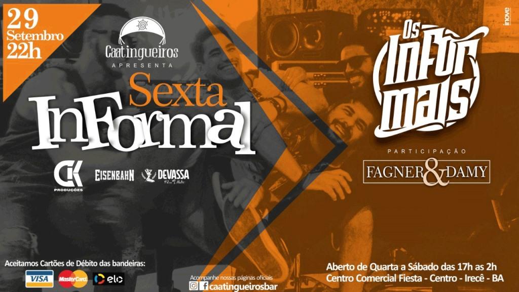 Banda-Os-Informais-agita-Catingueiros-Bar-nesta-sexta