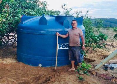 Serra de Uibaí é contemplada com 40 cisternas