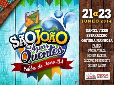 Tucano: Prefeitura anuncia atrações do São João das Águas Quentes