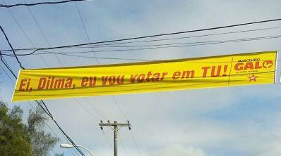 """Ei, Dilma, vou votar em tu"""