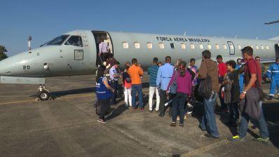 Venezuelanos são levados de Roraima para Bahia