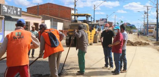 #OTRABALHONÃOPARA: Prefeitura de Lapão requalifica entrada da cidade