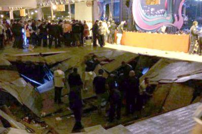 Camarote desaba durante show de Ivete Sangalo em Aracaju