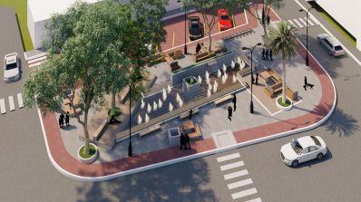 Com fonte luminosa, deque suspenso e cortina de vidro, Praça das Rádios será uma das mais bonitas da cidade