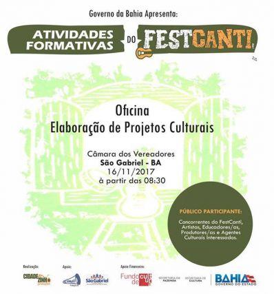 São Gabriel será palco do 1º Festival da Canção do Território De Irecê