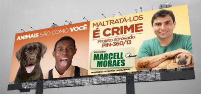 Campanha publicitária de Marcell Moraes causa polêmica e é considerada racista