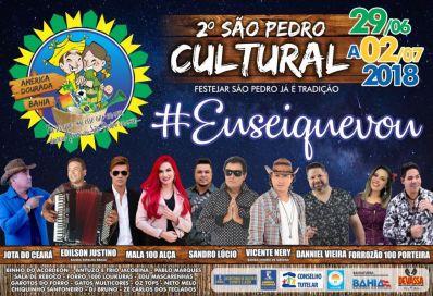 #EuSeiQueVou Prefeitura apresenta atrações do 2º São Pedro Cultural de América