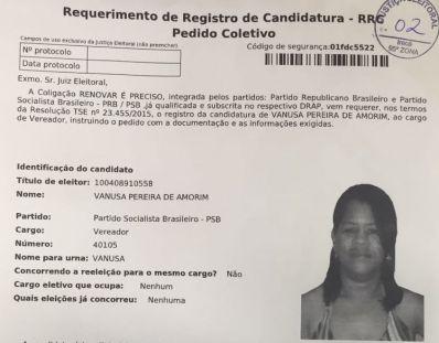 São Gabriel: Com base em FRAUDE, coligação pede cassação de registro de Gea Rocha