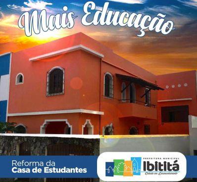 Prefeitura de Ibititá promove reforma da Casa de Estudantes em Salvador