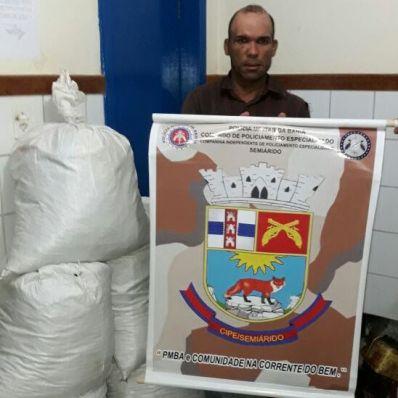 CIPE/Semiárido apreende 250 kg de maconha em Xique-Xique