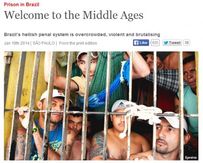 Welcome to the Middle Ages: Barbárie nos presídios brasileiros ganha destaque em revista britânica
