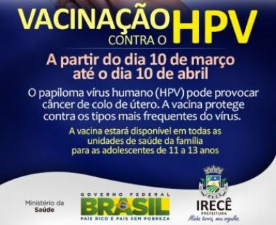Prefeitura de Irecê lança campanha contra HPV
