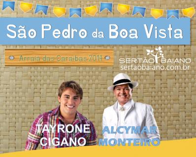 Alcymar Monteiro e Tayrone no São Pedro da Boa Vista