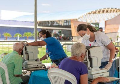 Governo e Consórcio realizam Mutirão de Catarata e atendem mulheres da Região na 2ª etapa do Saúde Sem Fronteiras