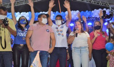No aniversário de Ibititá, Nilvinha e Mateus inauguram comitê central do 55