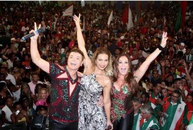 Valesca Popozuda encerra com funk coroação de rei e rainha de escola de samba