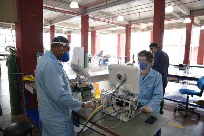Senai Cimatec reparou mais de 100 respiradores mecânicos