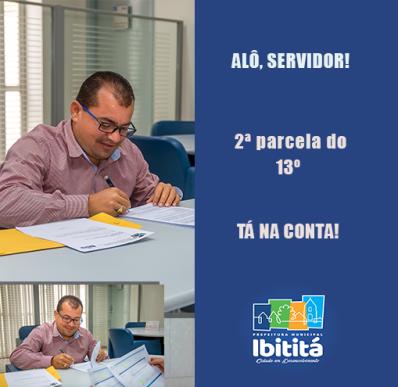 Exemplo para Bahia: Prefeitura de Ibititá antecipa segunda parcela do 13º