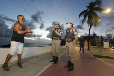 Toque de recolher a partir das 18h é iniciado na Bahia