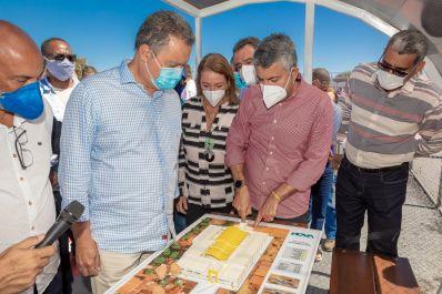Rui Correria e Elmo Vaz inauguram obras e anunciam pacote de investimentos de R$ 150 milhões