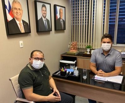 Em reunião com Cafu, Diego Coronel confirma candidatura à Câmara Federal