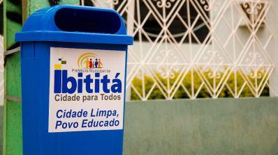 Infraestrutura instala coletores de lixo na sede e zona rural de Ibititá